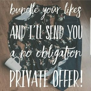 Tops - ❤BUNDLE LIKES FOR PRIVATE OFFER❤